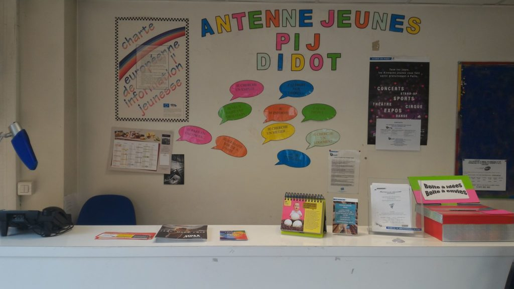 Gestion du Point d'information Jeunesse Antenne Didot